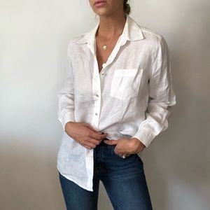 {Casual Corner} linen button down